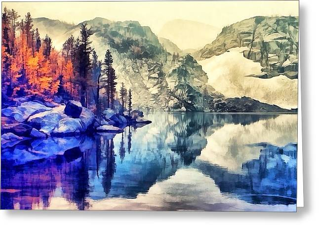 Autumn Day On The Lake. Greeting Card