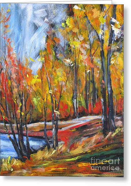 Greeting Card featuring the painting Autumn by Debora Cardaci