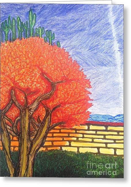 Autumn Desert Splendor  Greeting Card by Ishy Christine Degyansky