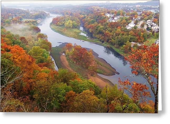 Autumn Down Below Greeting Card by Dennis Nelson