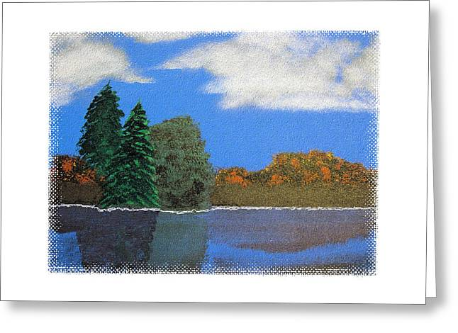 Autumn Dusk- A Tribute To Ross Greeting Card by Robert Boyette