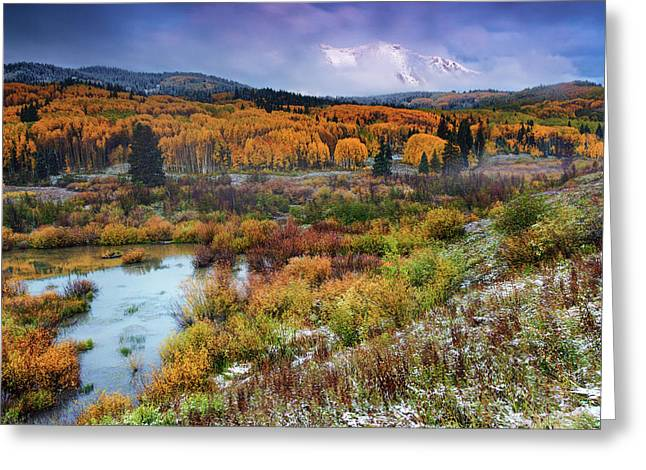 Autumn Dusting Greeting Card