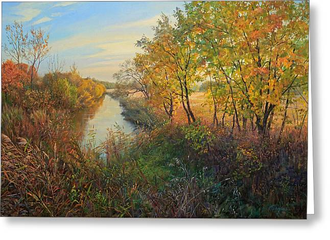 Autumn Evening Greeting Card