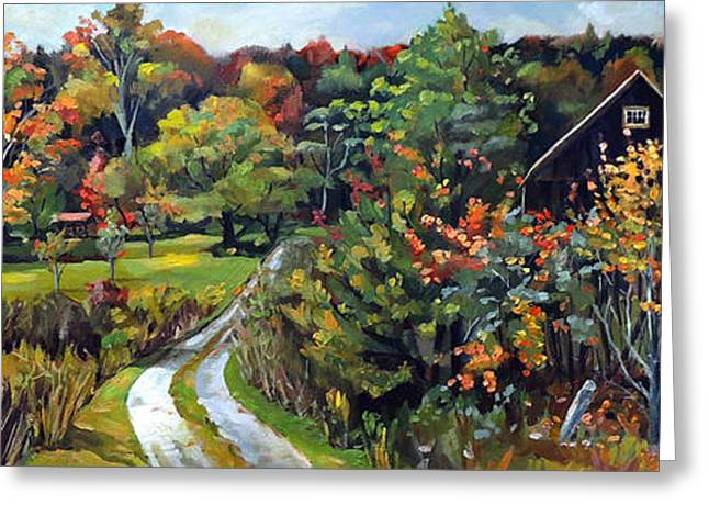 Autumn Explosion In Vermont Greeting Card