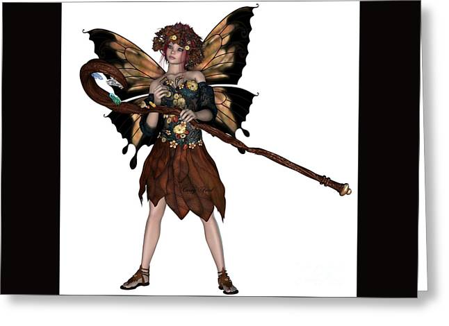 Autumn Fairy Greeting Card by Corey Ford
