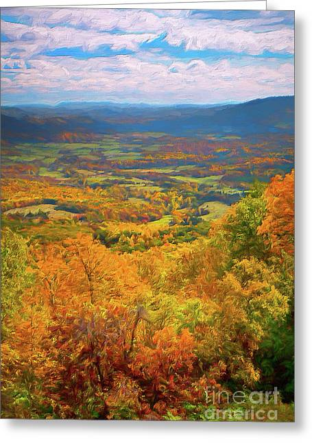 Autumn Fall Colors In The Arnold Valley Ap Greeting Card by Dan Carmichael