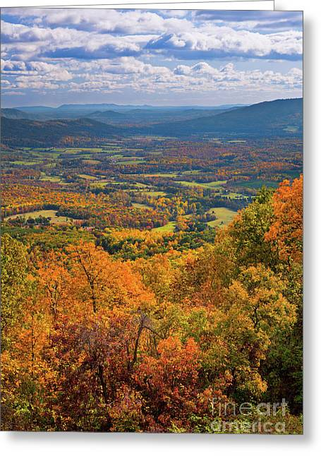 Autumn Fall Colors In The Arnold Valley Greeting Card by Dan Carmichael