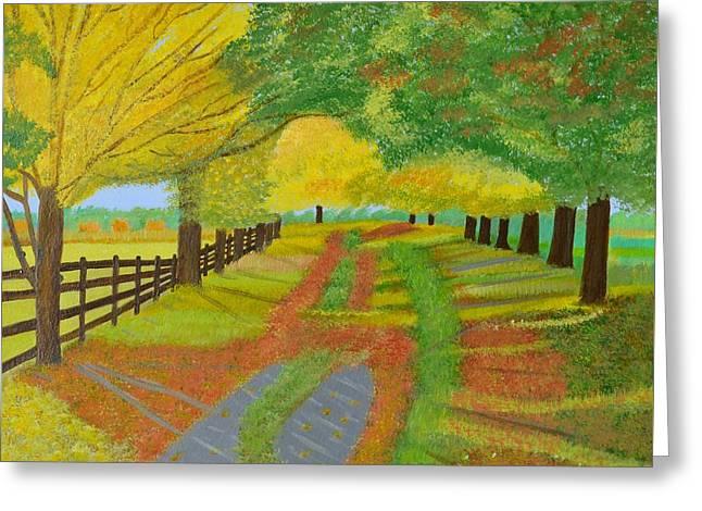 Autumn- Fallen Leaves Greeting Card