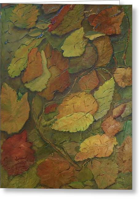 Autumn Falling Greeting Card