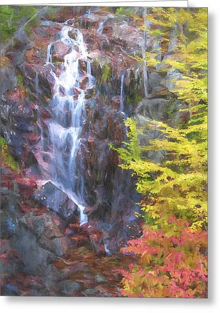 Autumn Falls Away II Greeting Card by Jon Glaser