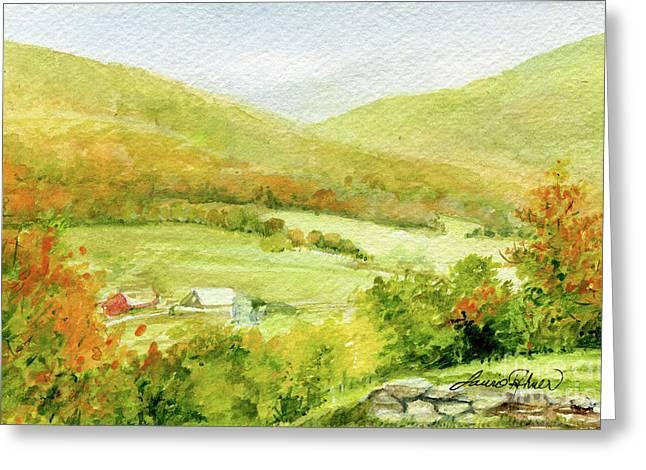 Autumn Farm In Vermont Greeting Card
