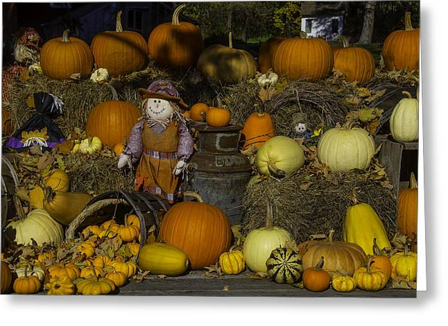 Autumn Farm Stand Greeting Card by Garry Gay