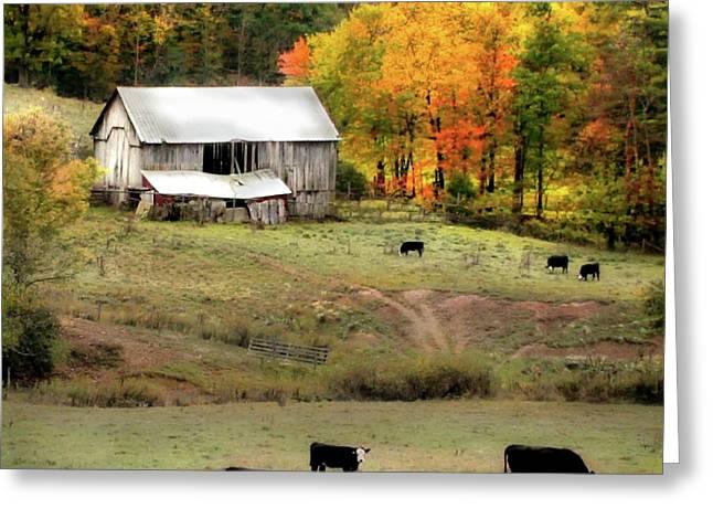 Autumn Farmhouse Greeting Card