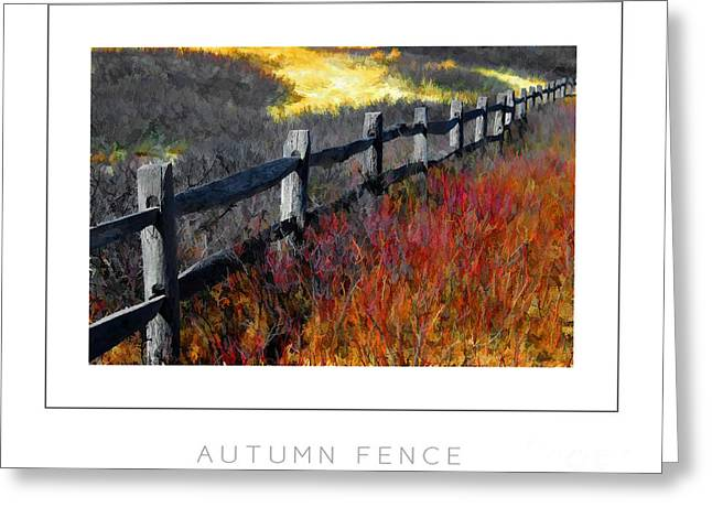 Autumn Fence Poster Greeting Card