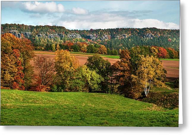 Autumn Fields. Germany Greeting Card