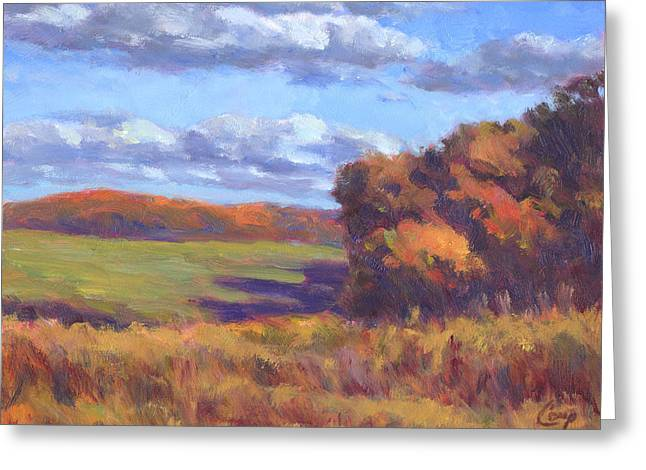 Autumn Fields Greeting Card by Michael Camp
