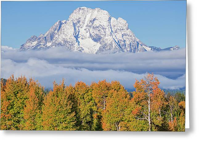 Autumn Fog Below Mt. Moran Greeting Card