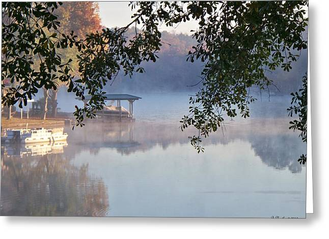 Greeting Card featuring the photograph Autumn Fog by Betty Northcutt