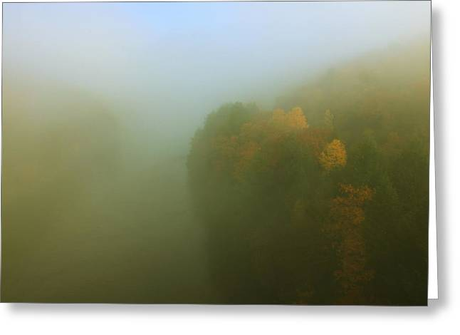 Autumn Fog French King Gorge Greeting Card by John Burk