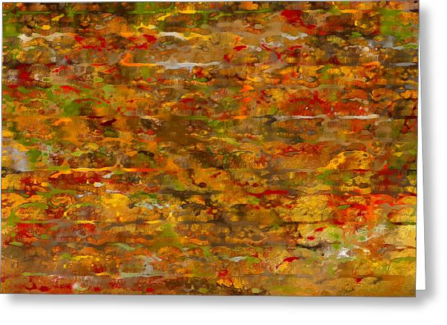 Autumn Foliage Abstract Greeting Card by Lourry Legarde