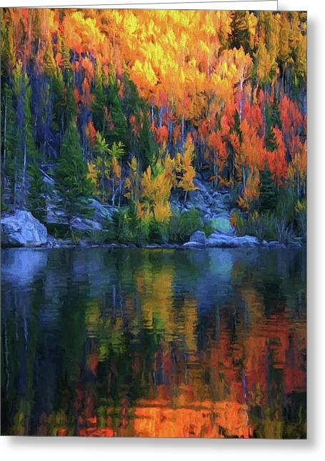 Autumn Foliage Reflection Bear Lake Greeting Card by Dan Sproul