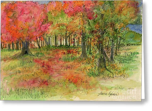 Autumn Forest Watercolor Illustration Greeting Card