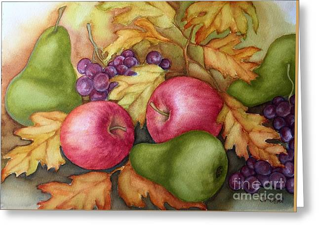 Autumn Fruit Still Life Greeting Card
