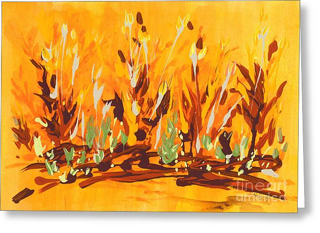 Autumn Garden Greeting Card