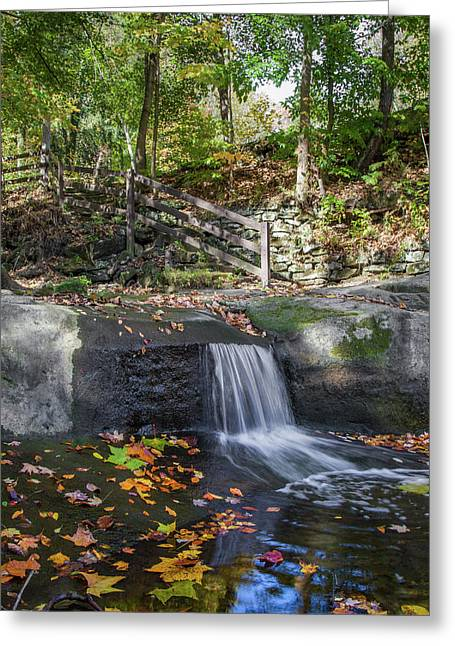 Greeting Card featuring the photograph Autumn Glen Olmsted Falls by Lon Dittrick