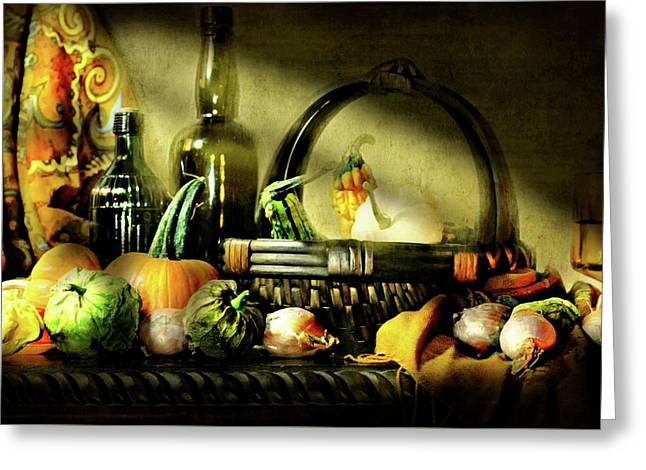 Autumn Gourds Greeting Card by Diana Angstadt