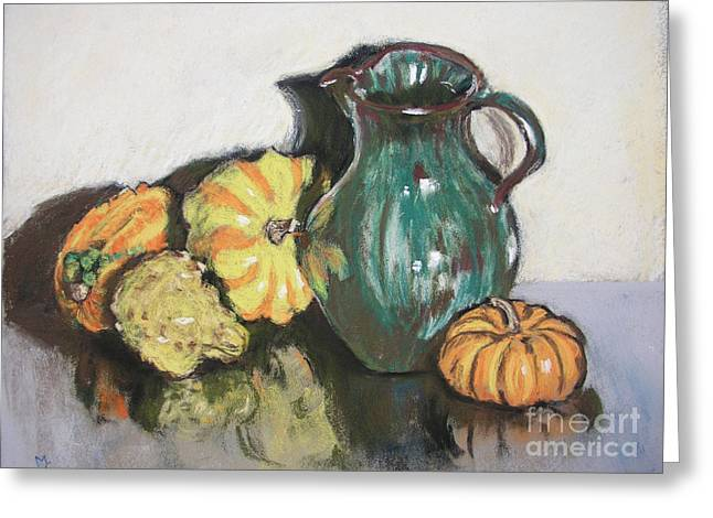 Autumn Gourds Greeting Card by Mary Capriole