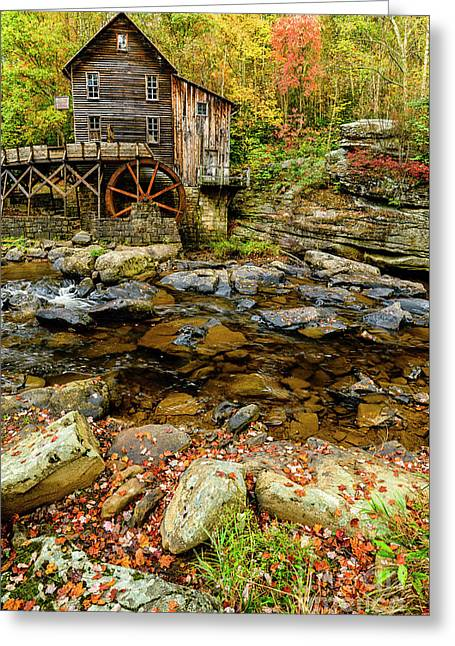 Autumn Grist Mill Greeting Card