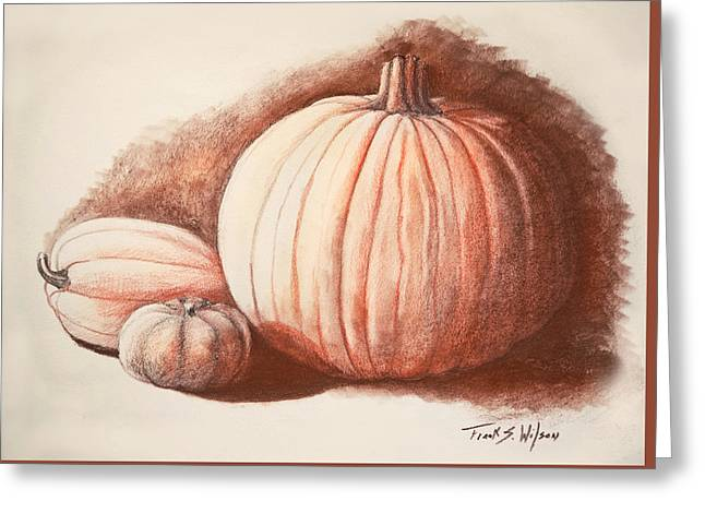 Autumn Harvest Drawing Greeting Card by Frank Wilson