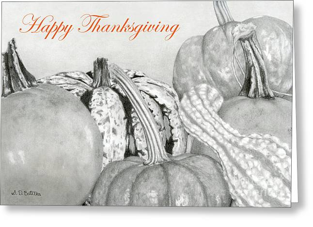 Autumn Harvest- Happy Thanksgiving Cards Greeting Card