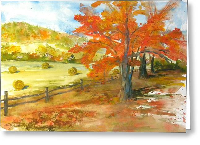 Autumn Harvest Greeting Card by Kris Dixon