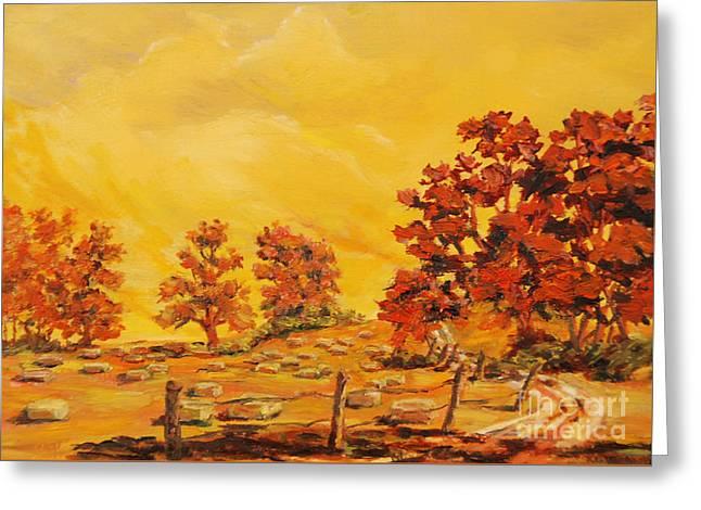 Autumn Haying Greeting Card