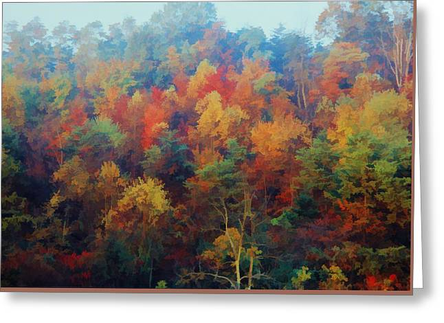Autumn Hill Aglow Greeting Card