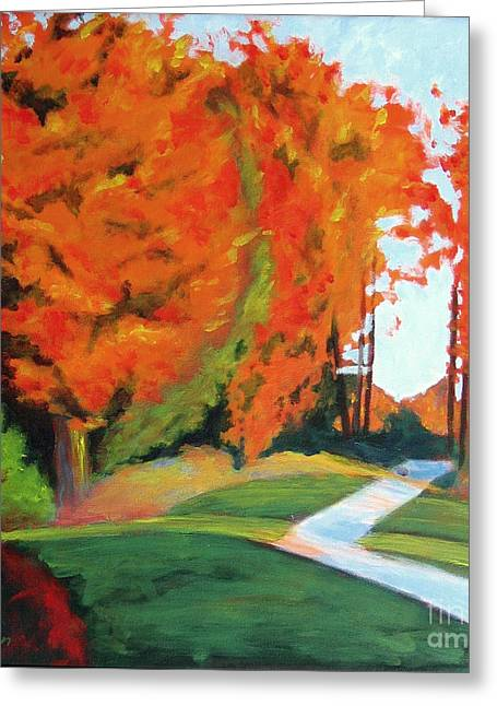 Upstate Paintings Greeting Cards - Autumn Hill Greeting Card by Antony Galbraith