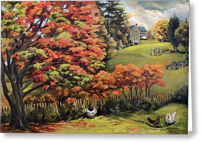 Autumn Hills In Vermont Greeting Card
