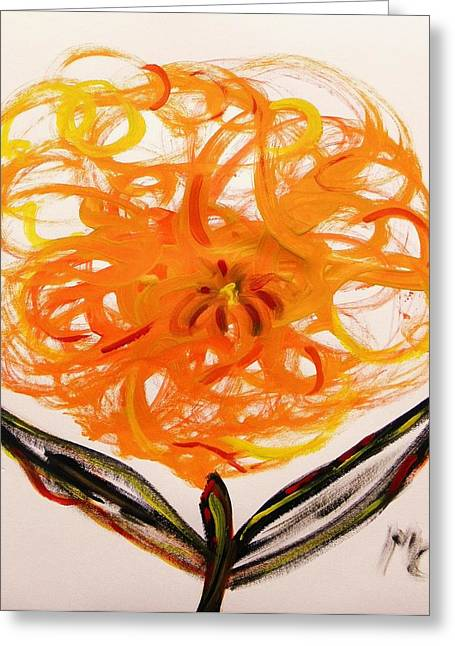 Autumn Hope Flower Greeting Card by Mary Carol Williams