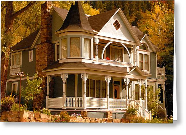 Autumn House Greeting Card by David Lee Thompson