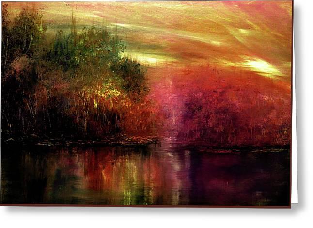 Autumn Hues Greeting Card by Ann Marie Bone