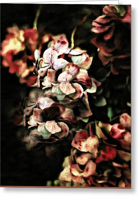 Autumn Hydrangeas Greeting Card