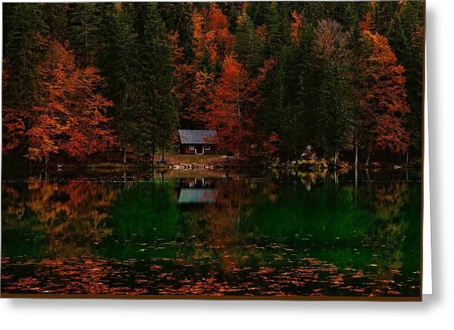 Autumn Idyll Greeting Card by Saso Tusar