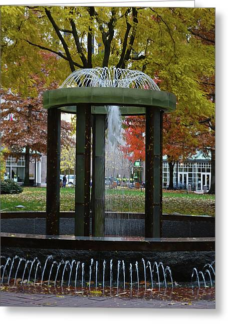 Autumn In Boston  Norman B. Leventhal Park Boston Ma Greeting Card by Toby McGuire