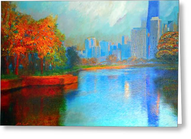 Autumn In Chicago Greeting Card