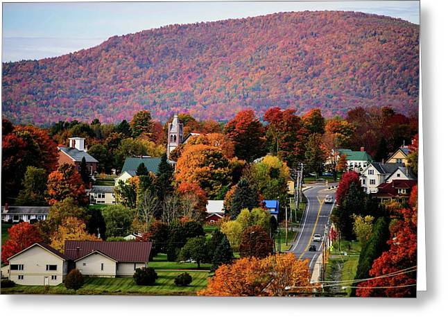 Autumn In Danville Vermont Greeting Card by Sherman Perry