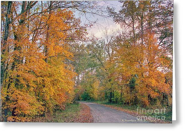 Greeting Card featuring the photograph Autumn In East Texas by Charles McKelroy