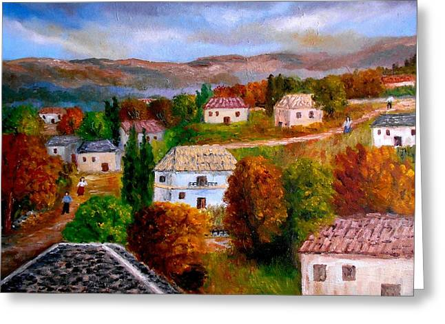 Autumn In Greece Greeting Card