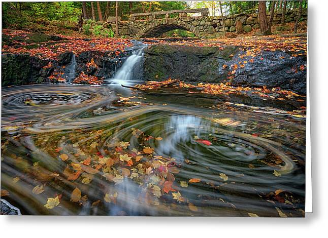 Autumn In Hallowell Greeting Card